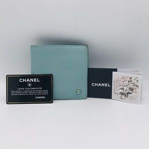 CHANEL Coco Caviar Skin Leather Wallet 💙💙💙